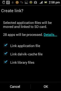 Memindahkan data aplikasi ke eksternal memory