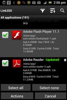 Memindahkan aplikasi ke SD card